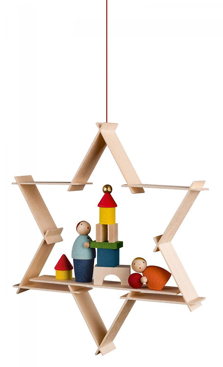 "Ornament - Children with Toys - 3.7""H"
