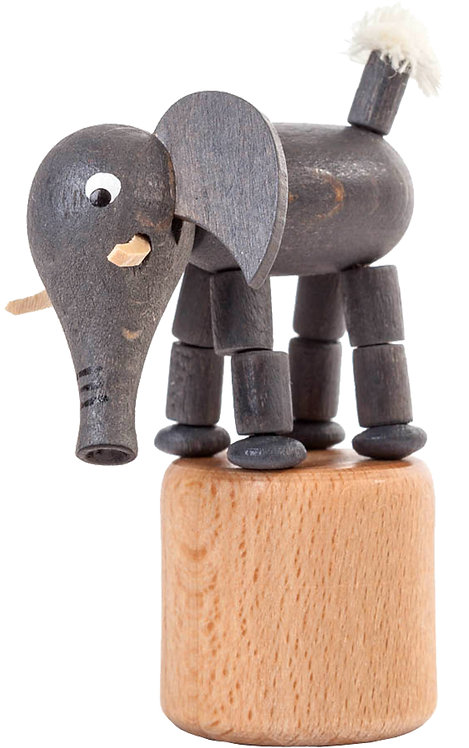 "Toy - Elephant push toy 3""H"