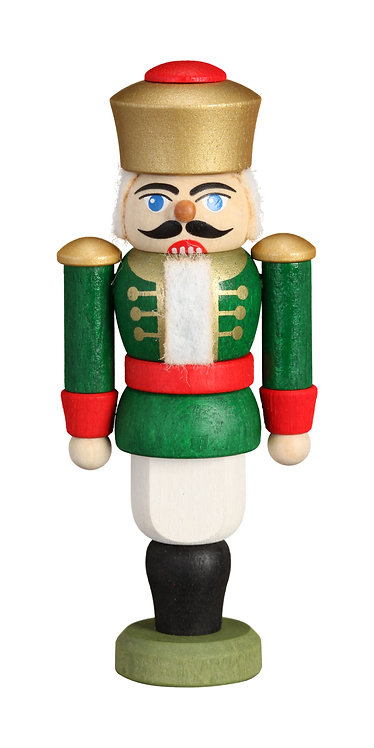 "Ornament - Nutcracker King - Green (painted) 3.6""H"
