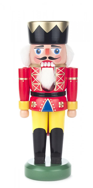 "Nutcracker King - Red/Yellow 8.3""H"