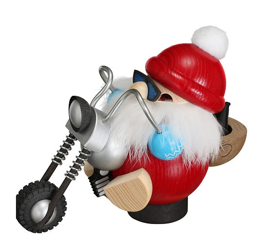 "Smoker - Santa Claus Biker - Painted 4.7""H"