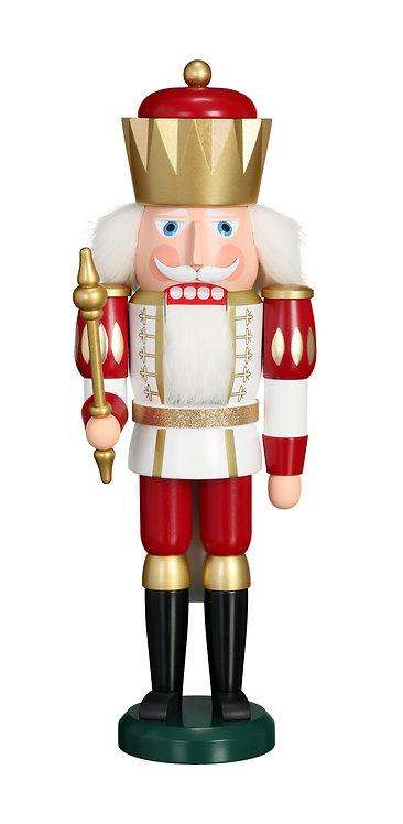 """Nutcracker King - White/Red 15.8""""H"""