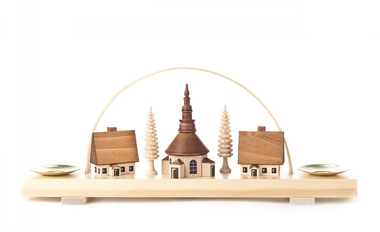 "Candle Arch Seiffener Village (holds candles) - Natural 3.9""H"