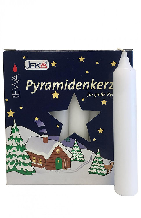 "Candles for Pyramids - ""Pyramidkerzen"" White (box of 18) 4.3""H"