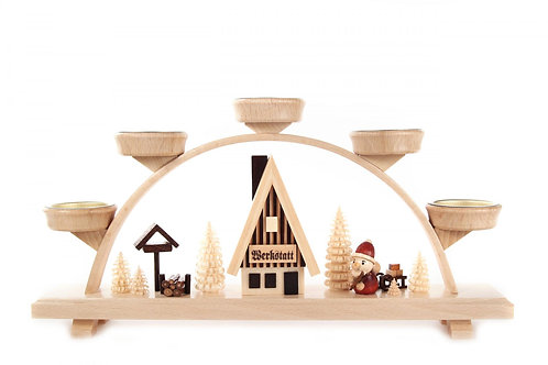 "Candle Arch Santa (holds tea lights) 6.5""H"