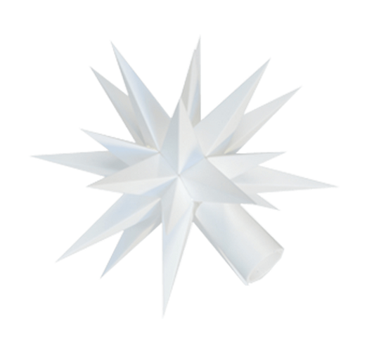 "Moravian Star - Original Herrnhut Plastic Star, (A1e) (White) - 5""H"