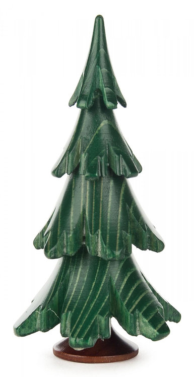 "Decoration - Tree - Painted Green 3.7""H"
