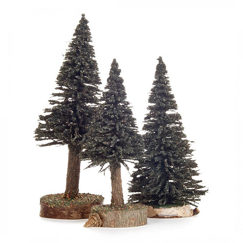 "Decoration - Trees - Green 4.7""H - 6.2""H (set of 3)"
