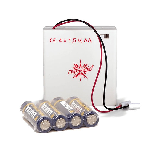 """Moravian Star - Indoor battery pack for one - 5"""" plastic star (A1e)"""