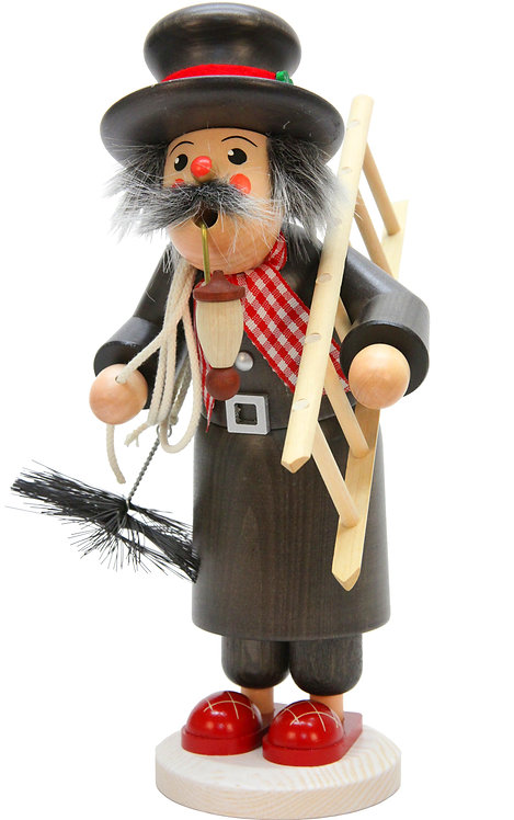 """Smoker - Chimney Sweep - Painted 12""""H"""