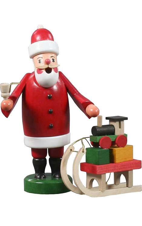 "Smoker - Santa with Sled - Painted 5.5""H"