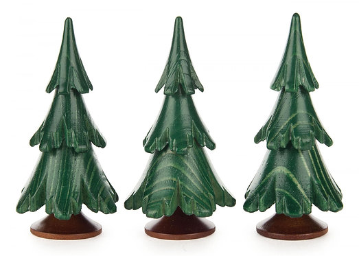 "Decoration - Trees - Painted Green 2.5""H (set of 3)"