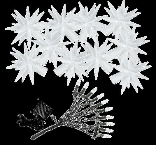 """Moravian Star - Original Herrnhut Plastic Star Chain (A1S) - (White) - 39'2"""""""