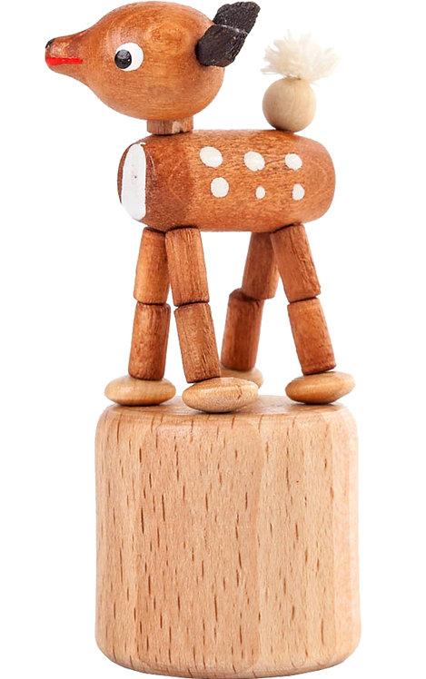 "Toy - Deer push toy - Natural 3""H"