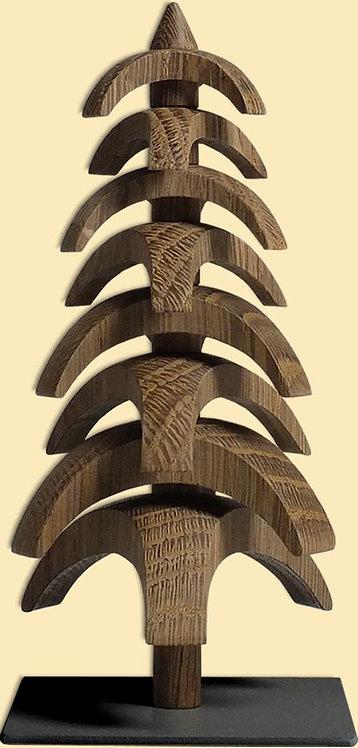 "Decoration - Tree to turn - Smoked oak 5.9""H"