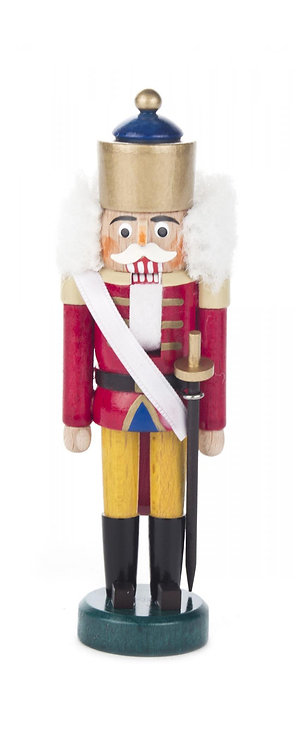 "Decoration - Nutcracker King - Red/Yellow 5.6""H"