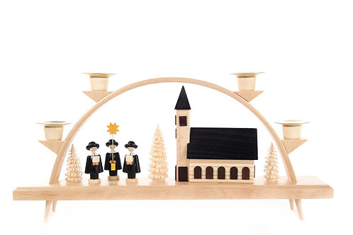 """Candle Arch Church and Children's Choir (holds candles) 6.5""""H"""