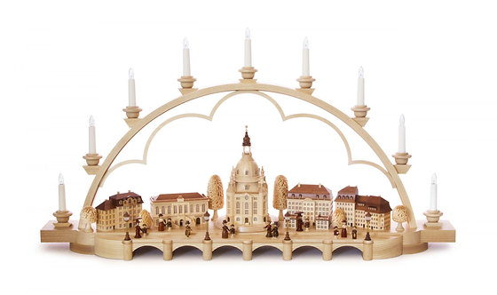 "Candle Arch Dresden - Electric - Natural 21.2""H"