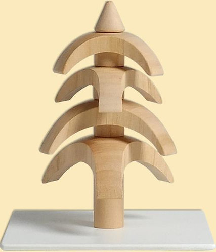 "Decoration - Tree to turn - Cherry wood - Natural 3.1""H"