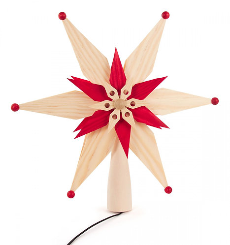 Decoration - Wooden - Tree Topper (it lights up)