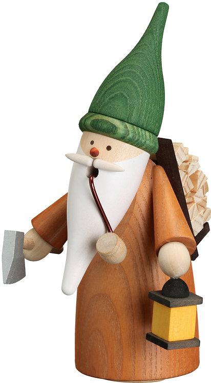 "Smoker - Gnome Gathering Wood - Painted 6.3""H"
