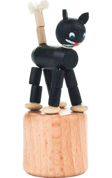 "Toy - Cat push toy - Black 3""H"