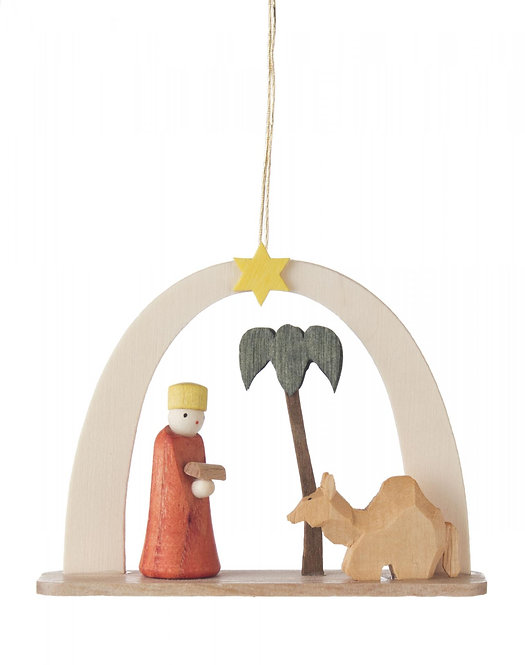 "Ornament - King with Camel - 2.0""H"