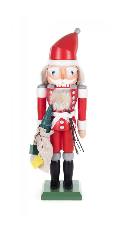 "Nutcracker Santa (with a sack full of gifts) - Painted 12.6""H"