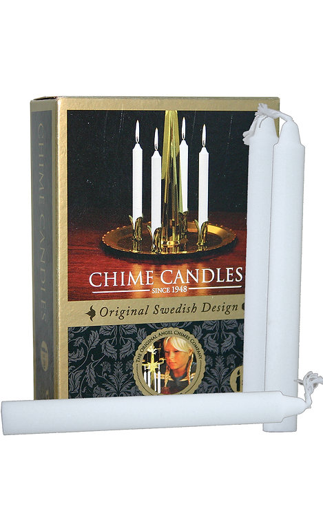 "Candles for Angel Chimes - White (box of 20)  4.4""H"