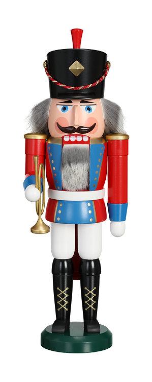 "Nutcracker Trumpet Player - Blue/Red 15.4""H"