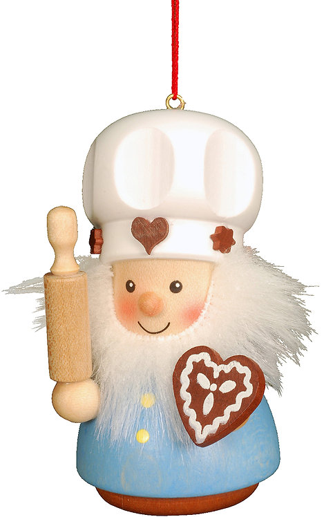 "Ornament - Gingerbread Baker - Painted 3.3""H"