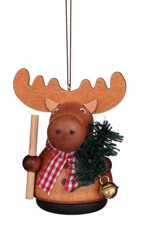 """Ornament - Moose - Natural 3""""H"""