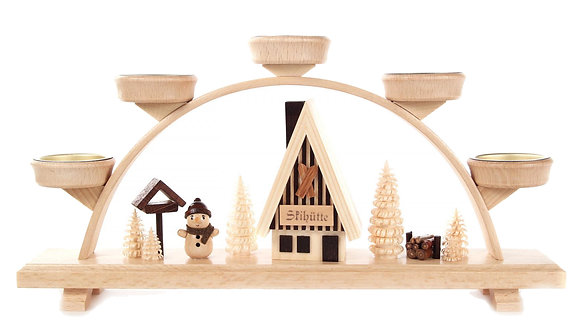 """Candle Arch Snowman (holds tea lights) 6.5""""H"""