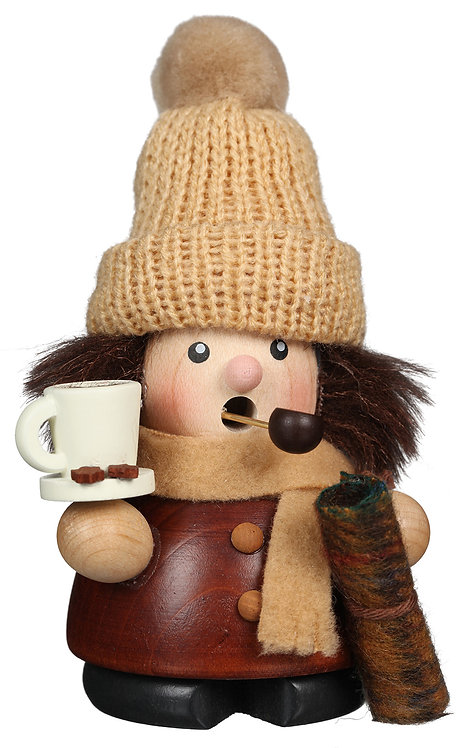 """Smoker - Winter Girl (with hot chocolate) - Natural 4.7""""H"""