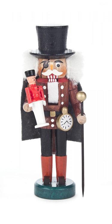 "Decoration - Mini-Nutcracker Clockmaker - Brown/Black 5.12""H"
