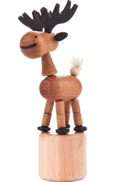 "Toy - Elk push toy - Natural 4""H"