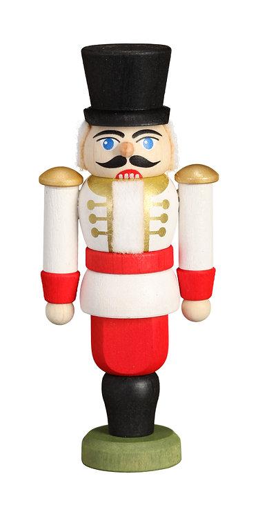 """Ornament - Nutcracker Hussar - White 3.6""""H"""