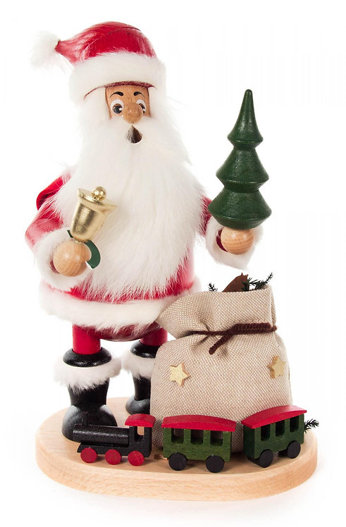 """Smoker - Santa Claus with Train - Painted 10.3""""H"""