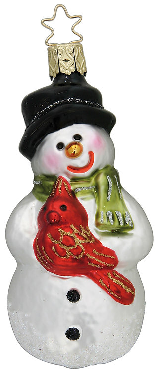 "Glass Ornament - ""Holiday Greeters"" 4.2""H"