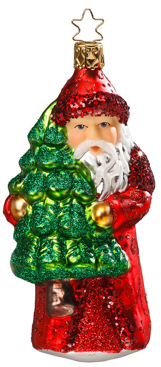 "Glass Ornament - ""Nikolaus Prepares"" 5.2""H"