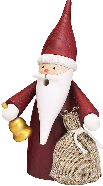 """Smoker - Santa Gnome with Presents - Painted 6.3""""H"""