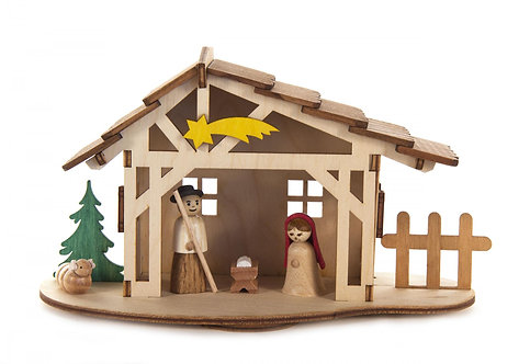 """Craft - Nativity to Build - Partially Painted 4.0""""H"""