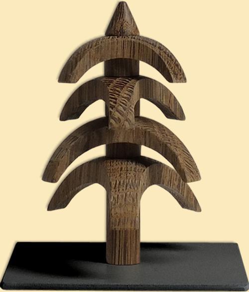 "Decoration - Tree to turn - Smoked oak 3.1""H"