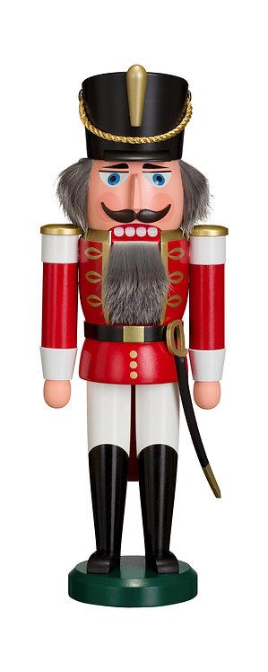 "Nutcracker Hussar - Red/White 14.6""H"