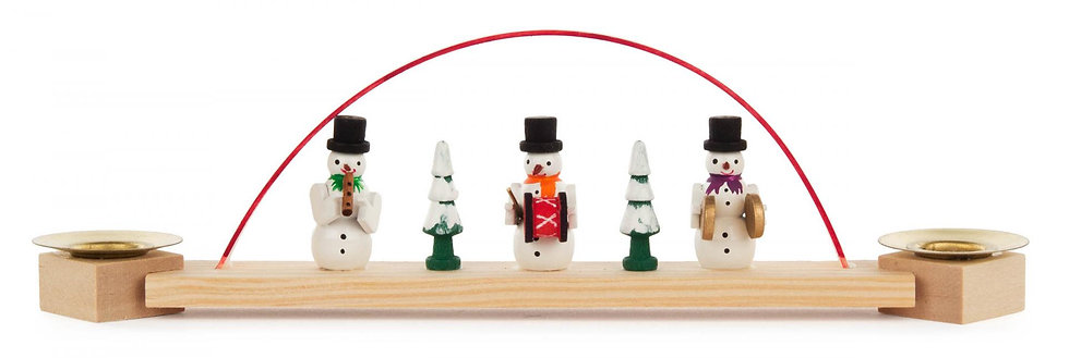 """Candle Arch - Mini Candle Arch with Snowman (holds candles) 2.7""""H"""