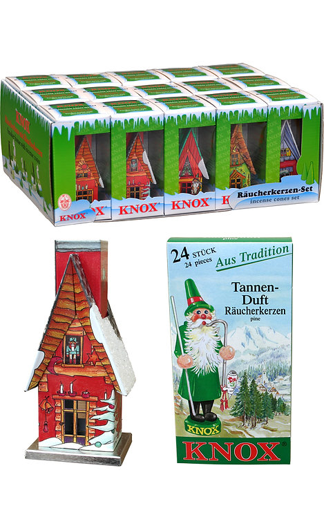 "Incense - Knox Metal Houses (with snow) - Assorted 5""H"