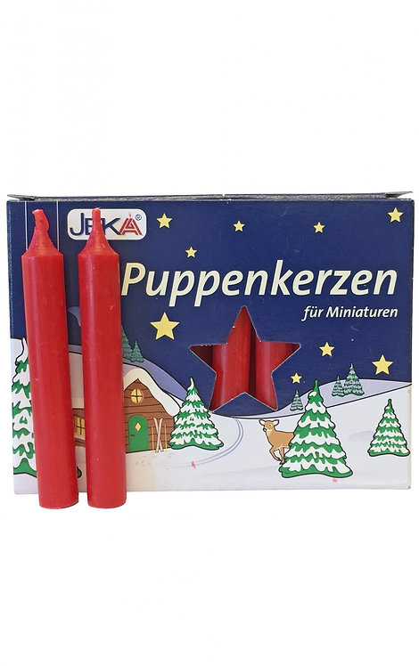 "Candles for Pyramids - ""Puppenkerzen"" Red (box of 20) 2.5""H"
