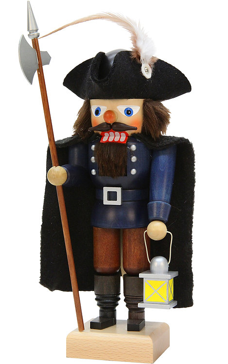 "Nutcracker Watchman - Blue/Brown 11.5""H"