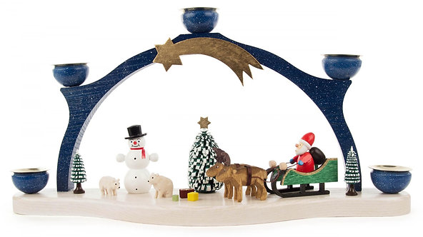 "Candle Arch Santa and Raindeer (holds candles) 7.5""H"