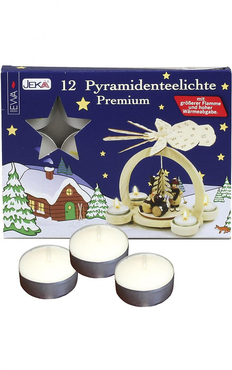 "Tealight Candles for Pyramids (box of 12 - foil holders) .5""H"